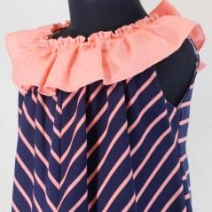 detalle vestido niña bas marti con volante coral