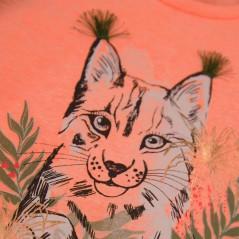 estampado camiseta niña naranja neon