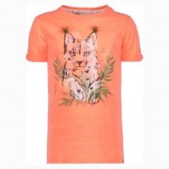 camiseta manga corta niña naranja neon