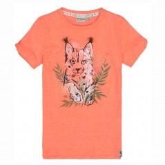 camiseta niña naranja neon de garcia jeans
