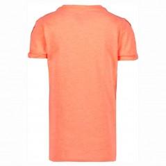 camiseta niña naranja neon de garcia jeans por detras