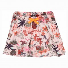 falda niña garcia jeans estampado floral naranja