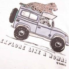 estampado camiseta manga corta niño safari