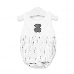 ranita bebe tous baby gris y blanca