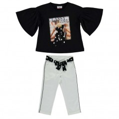 conjunto niña bimbalina blusa y pantalon capri