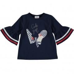 camiseta niña manga volante de bimbalina