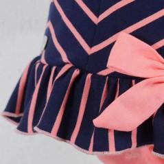 detalle braguita vestido fiesta bebe bas marti coral y marino