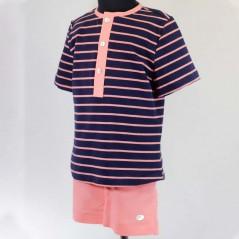 ropa de vestir niño bas marti coral y marino