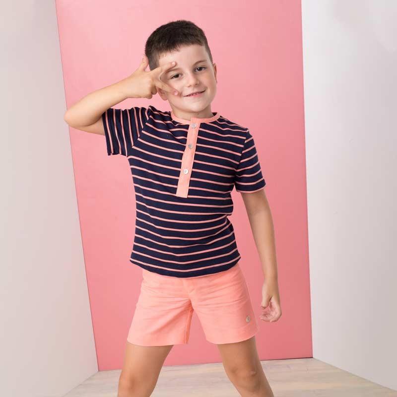 conjunto vestir niño bas marti coral y marino