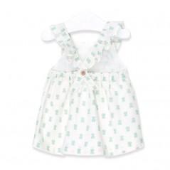 vestido tirantes bebe osos verdes por la espalda