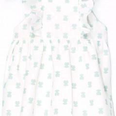 detalle vestido tirantes bebe osos verdes