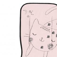 detalle colchoneta recta carro bebe rosa de bimbidreams