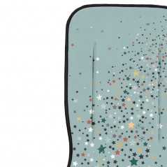 detalele colchoneta recta bebe verde de estrellas bimbidreams