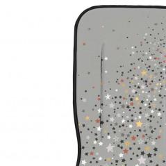 detalle colchoneta recta bebe bimbidreams estrellas gris