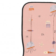 detalle colchoneta sillita bebe marine rosa de bimbidreams