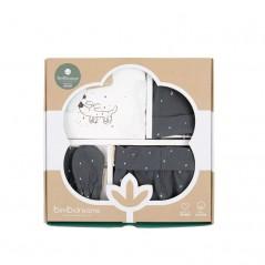 caja set nacimiento algodón de bimbidreams guau antracita