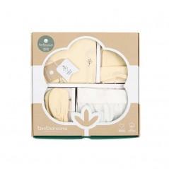 caja regalo conjunto nacimiento bebe vainilla y crudo jirafa de bimbidreams