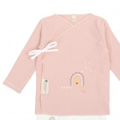 jubon set nacimiento bebe happy days rosa de bimbidreams