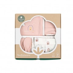 caja regalo set nacimiento bebe happy days rosa de bimbidreams