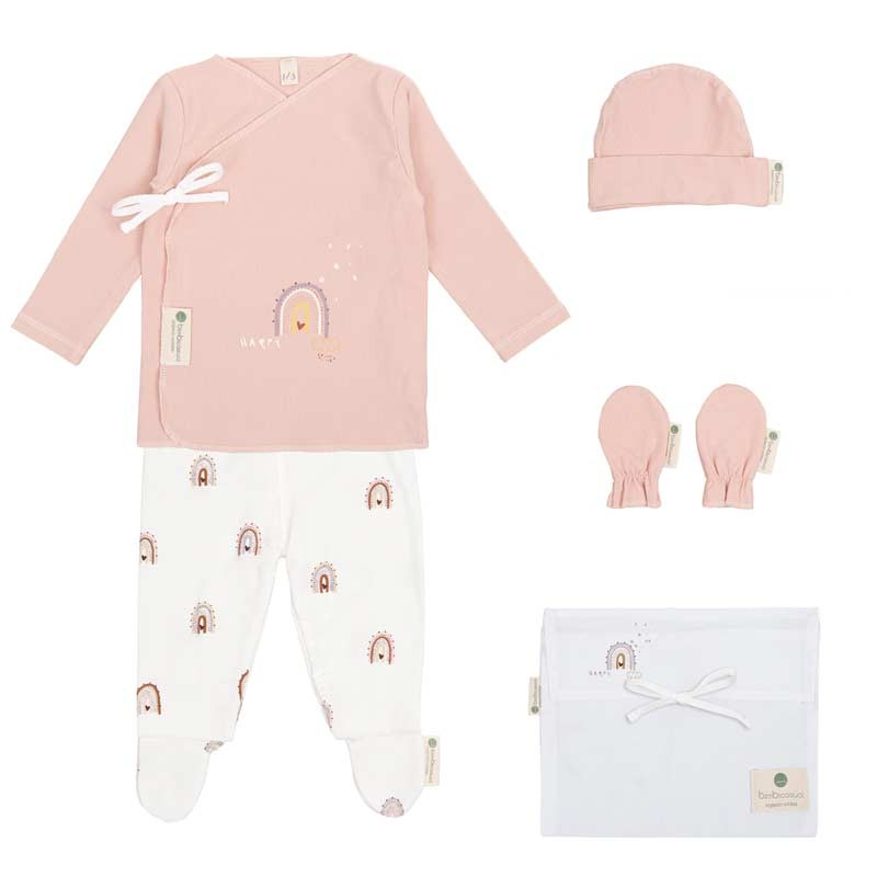 set nacimiento bebe happy days rosa de bimbidreams