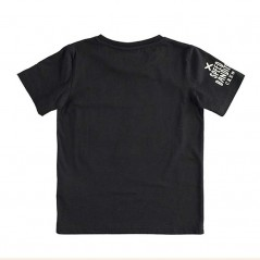 camiseta ido niño manga corta negra por detras