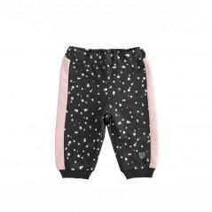 pantalon chandal bebe niña gris y rosa