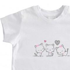 detalle camiseta ido bebe niña blanca