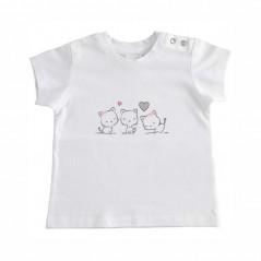 camiseta ido bebe niña blanca