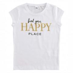 camiseta ido niña desmangada blanca happy