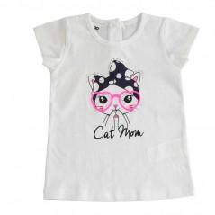 camiseta manga corta niña de ido gatita