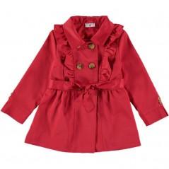 chaqueta niña entretiempo roja de bimbalina