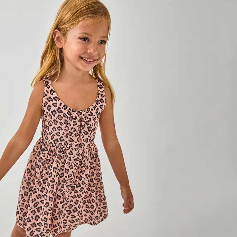 niña con vestido verano de bimbalina animal print