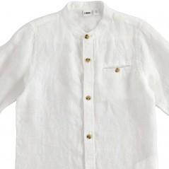 detalle botones camisa lino niño manga larga de ido