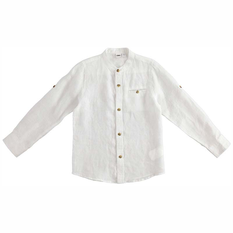 camisa lino niño manga larga de ido