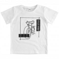 camiseta manga corta niño blanca de vestir ido