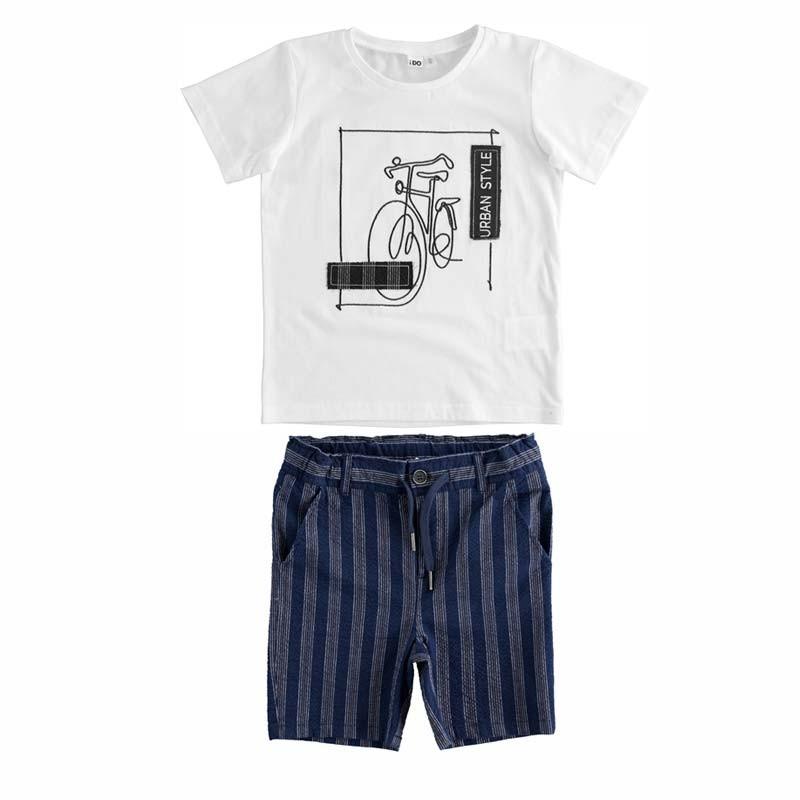 conjunto manga corta niño de vestir ido
