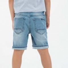 pantalon vaquero corto de niño garcia jeans azul por detras