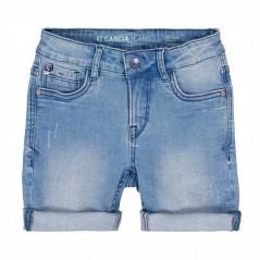 pantalon vaquero corto de niño garcia jeans azul con dobles