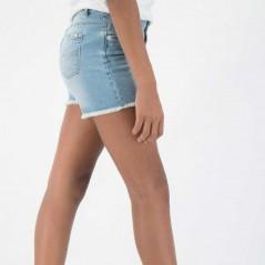 pantalon corto denim niña garcia jeans azul claro vista  lateral