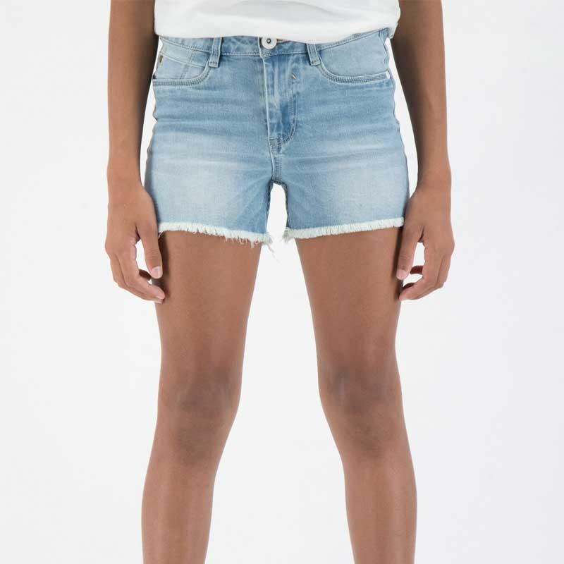 pantalon corto denim niña garcia jeans azul claro