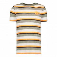 camiseta garcia jeans niño manga corta rayas amarillas y verdes