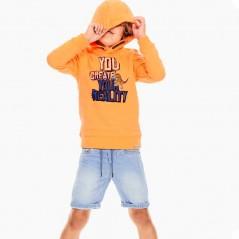 niño con bermuda denim de garcia jeans azul claro