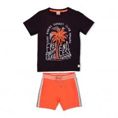 conjunto manga corta niño de sturdy naranja y gris