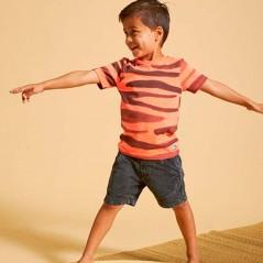 look niño con camiseta manga corta naranja neon Sturdy