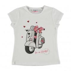 camiseta niña manga corta vespa
