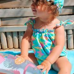 conjunto baño niña marena de vestido y braguita