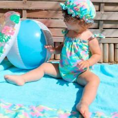 niña con vestido y braguita baño marena