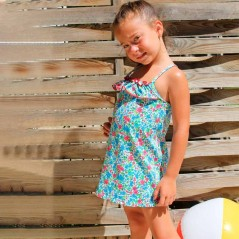 vestido playero niña de flores marena