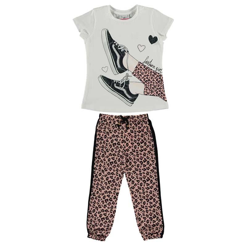 conjunto bimbalina niña pantalon largo  animal print