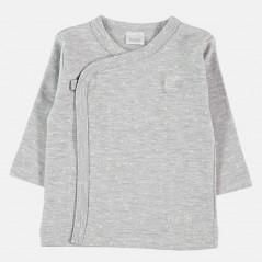 camiseta cruzada manga larga gris petit oh